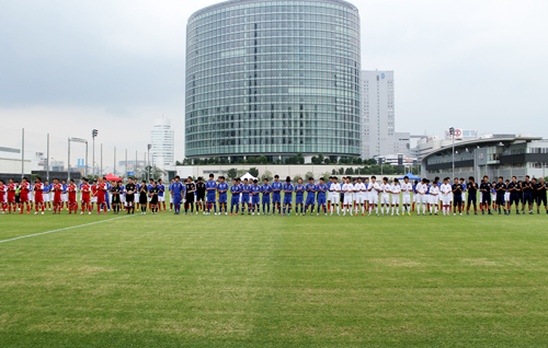 日本知的障がい者サッカー日本代表、壮行会のオープニングセレモニー